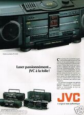 Publicité advertising 1989 Chaine Hi-Fi Portable JVC