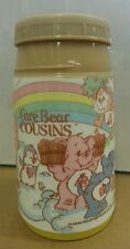 Nice Vintage 1985 Yellow Care Bear Cousins Thermos for Lunch Box , Care Bears