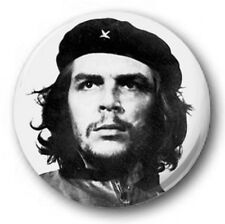"Che Geuvara - 25mm 1"" Button Badge - Revolution Cuba Marxist Student b+w"