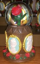 DISNEY PARKS BEAUTY AND THE BEAST CAMEO MUSICAL SNOW GLOBE TALE AS OLD AS TIME