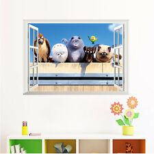 THE SECRET LIFE OF PETS Wall Sticker MURAL Kids Decal Max Duke Snowball Chloe