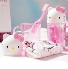 Hello Kitty Travel Wash 3-Piece Set Cup+Toothbrush+Towel Toiletries Wash Set