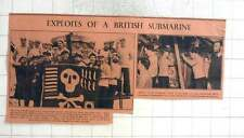 1942 Crew Of Hm Submarine At Most, Cayley, Jolly Roger