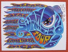 """2016 phish summer tour sticker by kerrigan 3""""x4"""" all weather"""