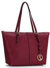 Women's New X Large Shopper Shoulder Handbags Ladies Faux Leather Tote Bags
