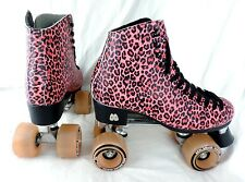 Moxi Ivy Jungle Outdoor City Roller Skates Pink Leopard Womens Size 8