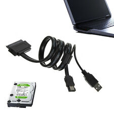 2.5'' Hard Disk Drive HDD SATA 22 Pin A eSATA Data USB Cavo Adattatore Per PC