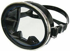 Mask Scuba Snorkel Dive Silicone Classic Oval Stainless Steel Frame Black MK040
