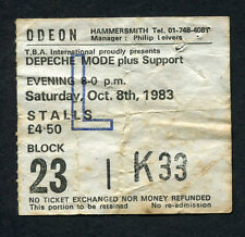 1983 Depeche Mode concert ticket stub Odeon Hammersmith UK Everything Counts