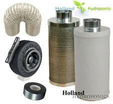 """8"""" inline CENTRIFUGAL EXHAUST duct vent fan carbon filter Grow Room combo kits"""