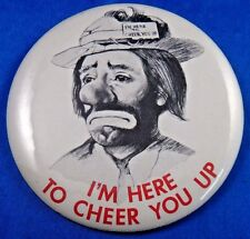 """I'm Here To Cheer You Up Clown Circus Advertising Pin Pinback Button 3 1/2"""""""