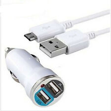 Hot Sale 2A Dual Car Charger + OEM Micro USB Cable for Samsung Galaxy S4/3 US