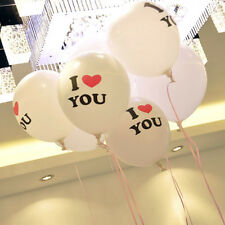 5 pcs I Love You Latex Balloons 12 inches Party Needs