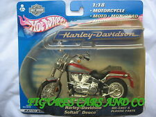 MOTO 1/18 HARLEY DAVIDSON  SOFTAIL DEUCE  2000 BLISTER HOT WHEELS