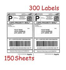 300 Half Sheet Shipping Labels for Laser/InkJet for eBay/PayPal/USPS/UPS/Fedex
