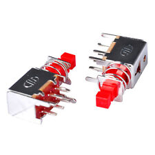 10x Red Push Button Switch 6 Pins Latching DPDT Tact Tactile Self-locking (DPDT)