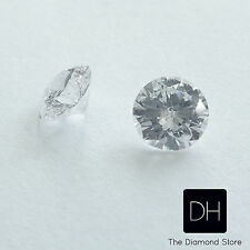 1.00 Ct. Loose Brilliant Round Cut Natural Diamond G/SI3 Matched Pair Earrings