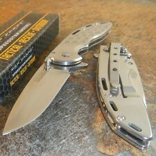 TAC-FORCE Spring Assisted Open MIRROR FINISH Folding Blade Pocket Knife NEW!!