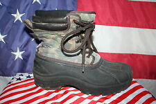 boys FADED GLORY Camouflage Boots Size 5: snow/ski/play/school/outdoors #2656