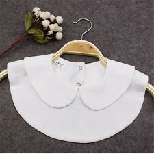 New Fashion Fake Half Shirt Blouse Round Collar PeterPan Detachable Tie Cosplay