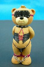 Bad Taste Bears S&M Submissive Dominate Her Buffy leather Chains Keychain NWOB