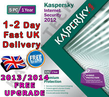 KASPERSKY Internet Security 2012 - 5 PC USER 1 ANNO-NUOVO SIGILLATO! 2013 2014 KIS