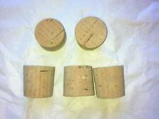 "5 off 1 Inch to 1 and 1/8"" Cork Stoppers Bungs Corks Laboratory Test Tube"