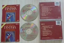 LOT 2 CD ALBUM WALT DISNEY FANTASIA MUSIQUE DE FILM 2 DISC SET SOUNDTRACK