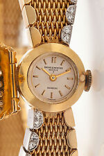 Antique RETRO $8000 Baume & Mercier 1.50ct Diamond 14k Gold Ladies Watch 55g