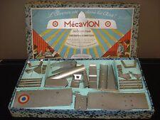 Jouet ancien coffret maquette avion à monter démontable tôle MECAVION airplane