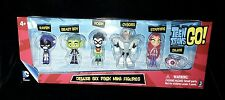 TEEN TITANS GO DELUXE SIX PACK MINI FIGURES RAVEN ROBIN CYBORG STARFIRE BEASTBOY