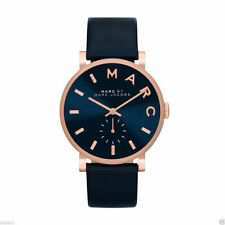 Marc by Marc Jacobs Original MBM1329 Women's Baker Rose Gold Blue Leather Watch