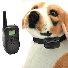 Remote Anti Bark Shock Pet Dog Training Collar 1 DOG 300M with LCD Display New C