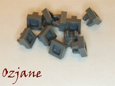 LEGO SPARES PARTS 2555 DARK BLUISH GREY TILE MODIFIED 1 X 1 WITH CLIP 10 PIECES