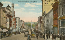 Easton PA * Northampton St. Looking East ca. 1908    Busy Scene