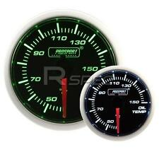 Prosport 52mm Super Smoked Green / White Oil Temperature Deg C Gauge