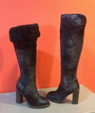 UGG Collection Calandra Classic Tall Over The Knee Sheepskin Cuff Heel Boot SZ 5