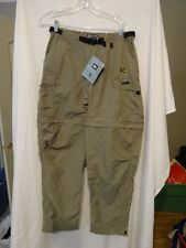 REI Sahara Light weight HIKING Pants Convertible to SHORTS Khaki Womens 10 NEW