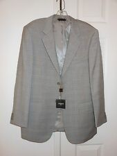 Light Gray Baroni Suit,100% wool super 150's, two button, size 40R, style SB/2B