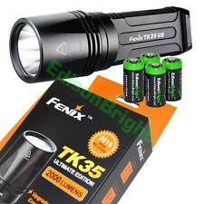Fenix TK35 UE 2000 Lumen 2015 Cree LED tactical Flashlight Ultimate Ed.w/4 CR123