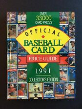 """1991 Offficial Baseball Card Price Guide"", Collector's Edition, HB, 1948-1991."