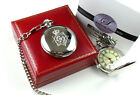 POLICE Lancashire Pocket Watch Chain in Luxury Gift Case UK CREST LOGO Crested