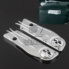 Skull Chrome Saddlebag Latch Cover For 1993-2013 Harley Touring Hard Flame Bags