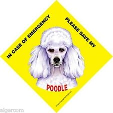 Save My POODLE 4.5x4.5 Waterproof Emergency Rescue Sign Suction Cup Made USA