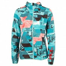 Reebok Womens X Small Playwind OS Photo Print ONE Series Jacket Running Training