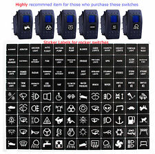 108 pcs Rocker Switch Label Decal Circuit Panel Sticker Marine Boat Instrument