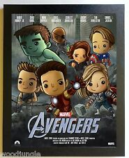 FRAMED THE AVENGERS MOVIE POSTER SIGNED THE HULK CAPTAIN AMERICA IRON MAN ART