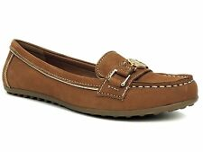 Tommy Hilfiger Women's Elsie2 Driving Moccasins Med. Brown Nubuck Leather 7.5 M