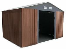 Metal Garden Shed 8 x 8 Outdoor Storage 8x8 with Free Foundation 8ft x 8ft WOOD