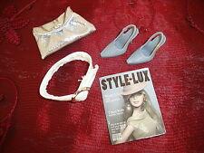 Schuhe Tasche Accessoires #1 Silber für Barbie Basics Model Muse Fashion Royalty